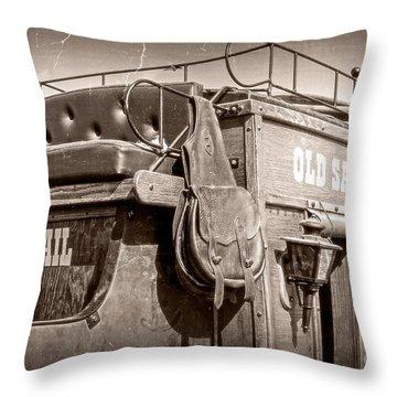 Old Santa Fe Stagecoach Throw Pillow
