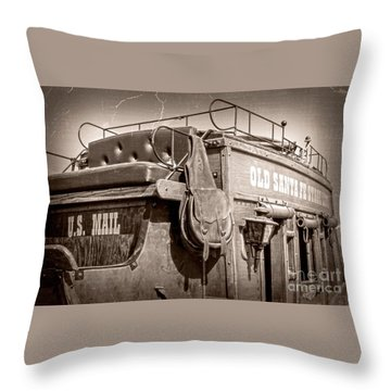Old Santa Fe Stagecoach Throw Pillow