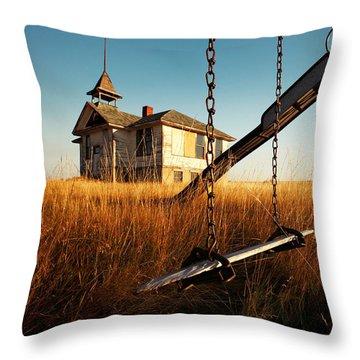 Old Savoy Schoolhouse Throw Pillow