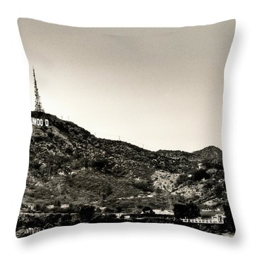 Old School Hollywood Throw Pillow