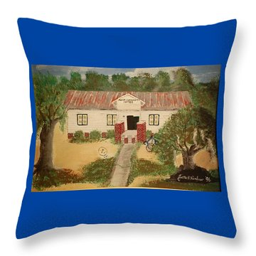 Alvin South Carolina Old School House Throw Pillow
