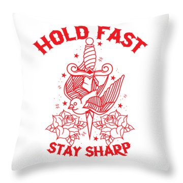 Old School Tattoo Throw Pillow
