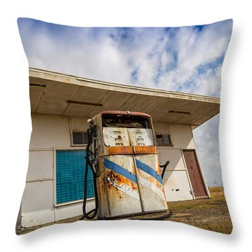 Throw Pillow featuring the photograph Old Servo by Keith Hawley