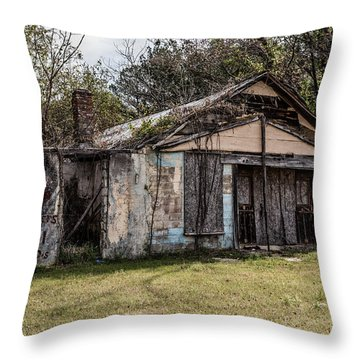 Throw Pillow featuring the photograph Old Shack by Kim Hojnacki