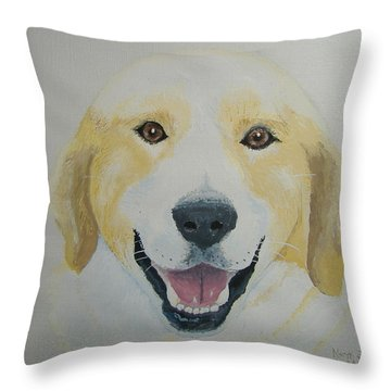 Throw Pillow featuring the painting Old Shep by Norm Starks