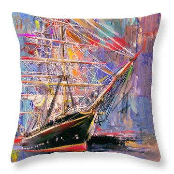 Old Ship 226 4 Throw Pillow by Mawra Tahreem