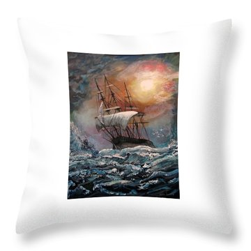 old Ship of Zion Throw Pillow