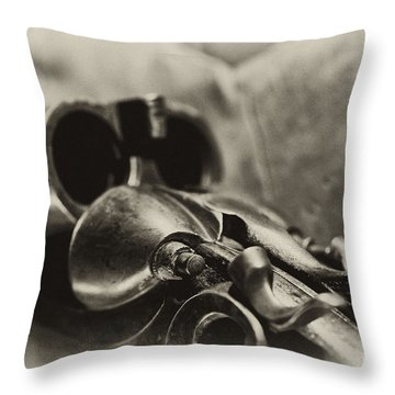 Old Shotgun Throw Pillow by Wilma  Birdwell