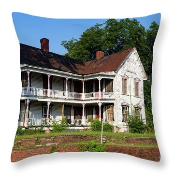 Old Shull Mansion Throw Pillow