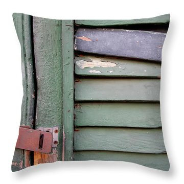 Throw Pillow featuring the photograph Old Shutters French Quarter by KG Thienemann