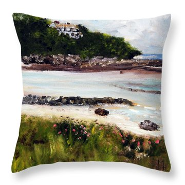 Old Silver Beach Falmouth Throw Pillow