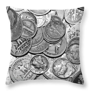 Old Silver Throw Pillow by Tammy Schneider