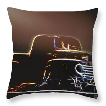 Old Sketched Pickup Throw Pillow