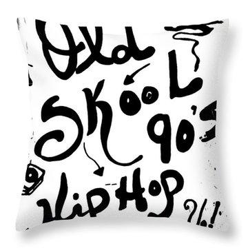 Old-skool 90's Hip-hop Throw Pillow