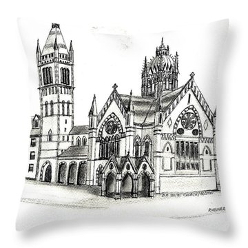 Old South Church - Bosotn Throw Pillow