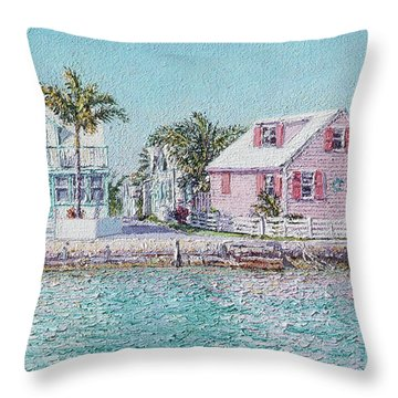 Old Spanish Wells Throw Pillow