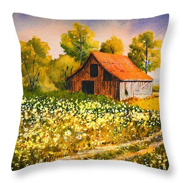 Old Spring Farm Throw Pillow