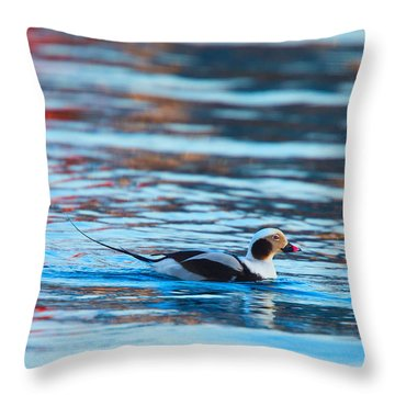 Old Squaw At Dawn Throw Pillow