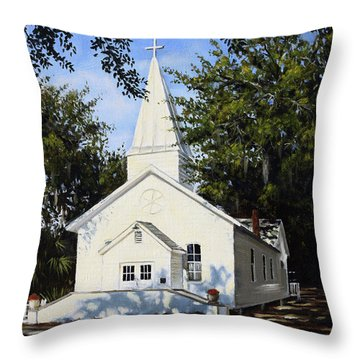Old St. Andrew Church Throw Pillow by Rick McKinney