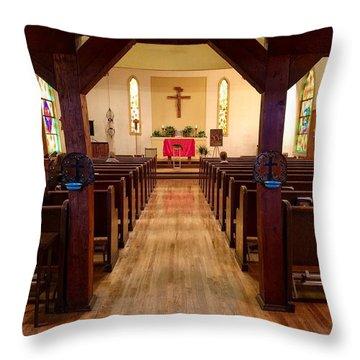 Old St. Barbara's Sanctuary Throw Pillow