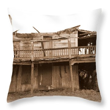 Old Stagecoach Stop Throw Pillow