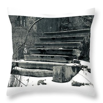 Old Stairs To Nowhere Throw Pillow by Jeff Severson