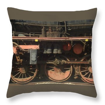 Old  Steam Train ...france Throw Pillow by Pierre Van Dijk