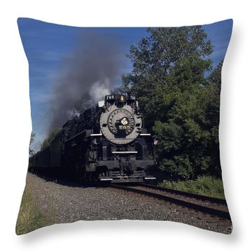 Old Steamer 765 Throw Pillow by Jim Lepard