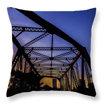 Old Steel Bridge Throw Pillow