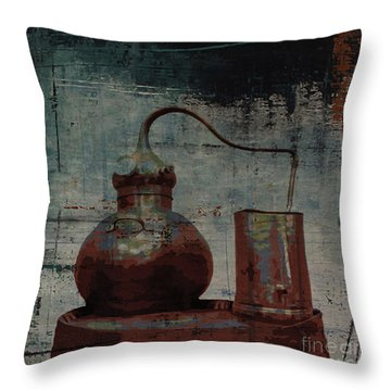 Throw Pillow featuring the digital art Old Still Bar by Megan Dirsa-DuBois