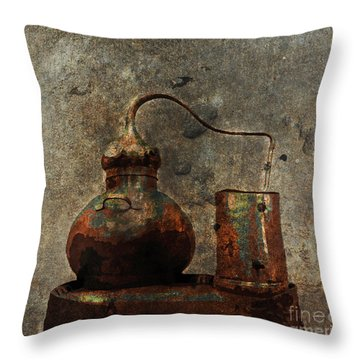 Old Still Barrel Throw Pillow