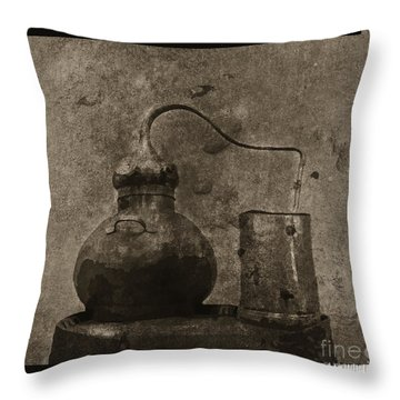 Throw Pillow featuring the digital art Old Still by Megan Dirsa-DuBois