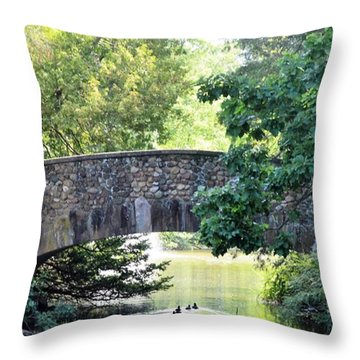 Old Stone Walkway Throw Pillow