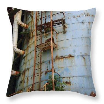 Old Storage Tank Throw Pillow by Yali Shi