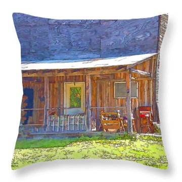 Old Store Front Throw Pillow