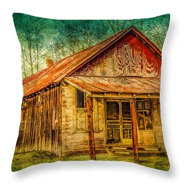 Old Store Throw Pillow by Phillip Burrow