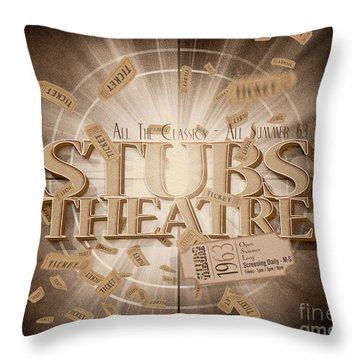 Old Stubs Theatre Advert Throw Pillow