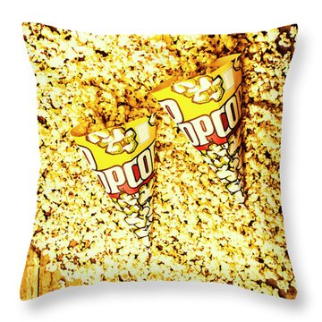 Old Style Popcorn Cones  Throw Pillow
