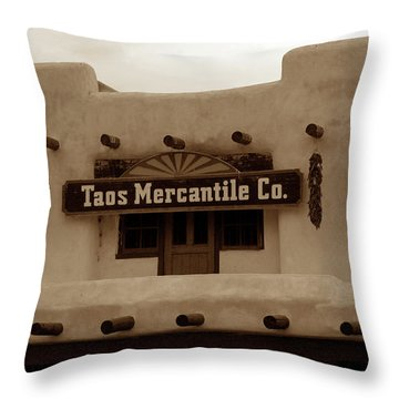 Old Taos Throw Pillow by David Lee Thompson