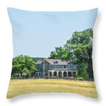 Old Texas Farm House Throw Pillow