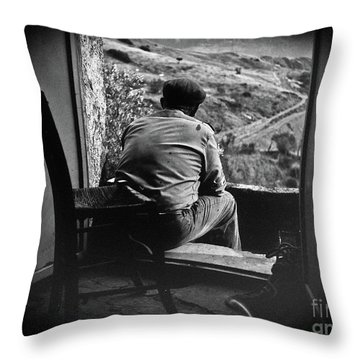 Old Thinking Throw Pillow