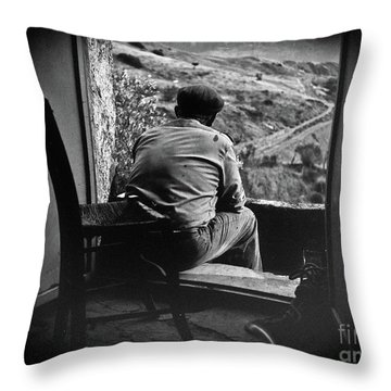 Old Thinking Throw Pillow