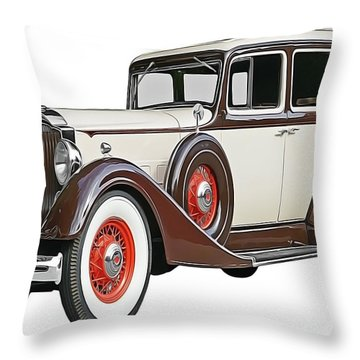 Old Time Auto Throw Pillow