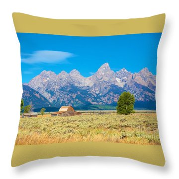 Throw Pillow featuring the photograph Old Time Community by Robert Pearson