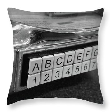 Old Time Rock And Roll Throw Pillow