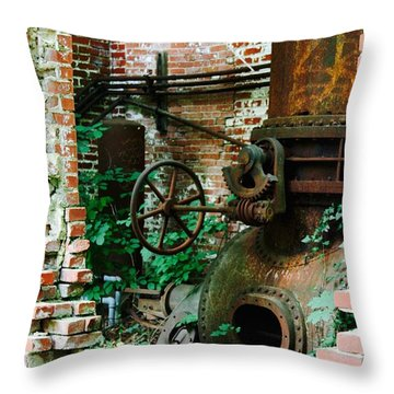 Old Time Views Throw Pillow