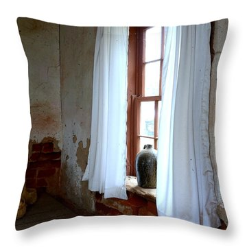 Old Time Window Throw Pillow