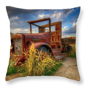 Old Timer Bannack Montana Throw Pillow