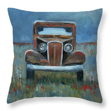 Throw Pillow featuring the painting Old Timer by Billie Colson