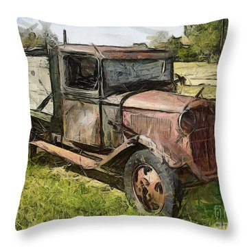 Old Timer Throw Pillow by Murphy Elliott